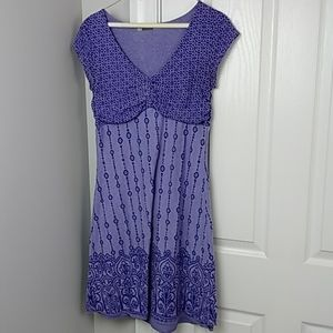 Athleta Purple Dhara Burnout Bali Dress S